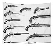 Pistol And Revolvers Tapestry