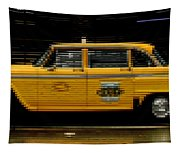Pixel Taxi Tapestry