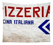 Pizzeria Advertising Sign Tapestry