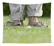 Playing Golf Tapestry