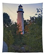 Pointe Aux Barques Lighthouse 7072 Tapestry