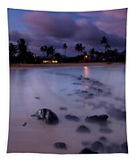 Poipu Evening Storm Tapestry