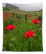 Poppies By The Roadside In Northumberland Tapestry