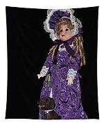 Porcelain Doll - Full View With Puppy Tapestry