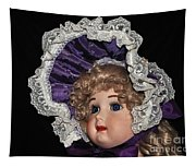 Porcelain Doll - Head And Bonnet Tapestry