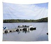 Portage Lake Panorama Tapestry
