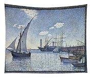 Porte De Cette Les Tartanes Tapestry