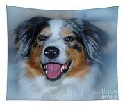 Portrait Of A Dog Lady Tapestry