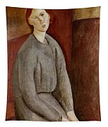 Portrait Of Annie Bjarne Tapestry