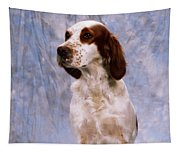 Portrait Of Irish Red And White Setter Tapestry