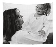 Portrait Of Mother And Daughter Tapestry