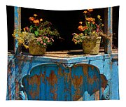 Pots Over Peeling Paint Tapestry