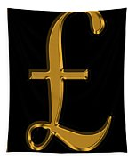 Pound Sterling In Gold Tapestry