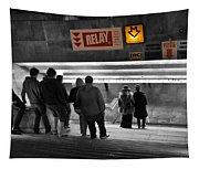 Prague Underground Station Stairs Tapestry