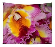Pretty And Colorful Orchids Tapestry