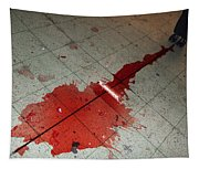 Puddle Of Red Wine On The Floor Tapestry