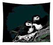 Puffin Love Tapestry