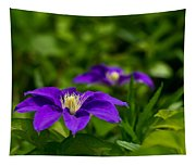 Purple Clematis Flower Tapestry