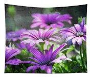 Purple Daisies  Tapestry