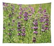 Purple Flower Field Tapestry