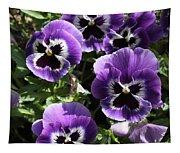 Purple Pansies Square Tapestry