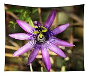 Purple Passion Flower  Tapestry
