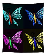 Quad Butterflies Tapestry