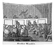 Quaker Worship, 1842 Tapestry