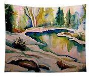 Quebec Winter Landscape Tapestry
