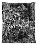 Rabelais: Gargantua And Pantagruel.  Illustration Of The Life Of Gargantua And Of Pantagruel By Fran�ois Rabelais. Wood Engraving, 1873, After Gustave Dor� Tapestry