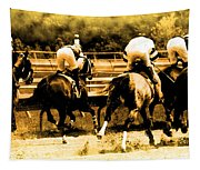 Race To The Finish Line Tapestry