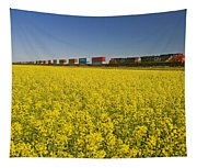 Rail Cars Carrying Containers Passe Tapestry