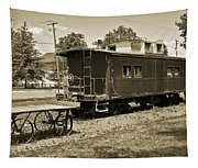 Railroad Car And Wagon Tapestry