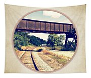 Railroad Tracks And Trestle Tapestry