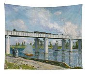 Railway Bridge At Argenteuil Tapestry