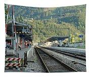 Railway Station West Interlaken Switzerland Tapestry