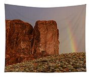 Rainbow And Red Rock Tapestry