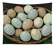 Rainbow Eggs Tapestry
