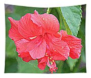 Rainy Day Hibiscus Tapestry