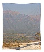 Ramganga River Flowing Through Corbett National Park Tapestry