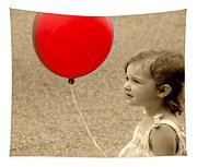 Red Baloon Tapestry