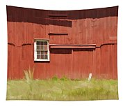 Red Barn Of New Jersey Tapestry