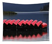 Red Canoes Maligne Lake Tapestry