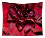 Red Carnation With Heart Tapestry