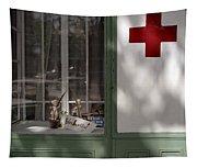Red Cross. Belgrade. Serbia Tapestry