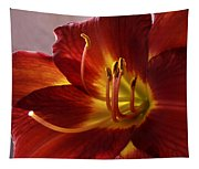Red Day Lily Tapestry