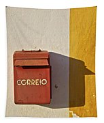 Red Faded Mailbox Of Portugal II Tapestry