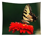 Red Flower And Butterfly Tapestry