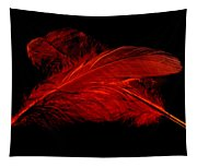 Red Ghost On Black Tapestry