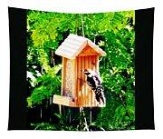 Red Headed Woodpecker Tapestry